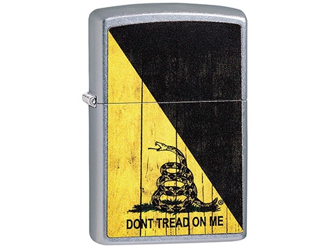 Zippo Classic Lighter Patriotic Series (Model: Don't Tread on Me / Street Chrome)