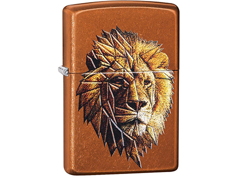 Zippo Classic Lighter Graphics Series (Model: Polygonal Lion)
