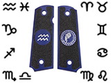Angel Custom CNC Machined Tac-Glove Zodiac Grips for WE-Tech 1911 Series Airsoft Pistols - Navy Blue