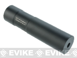 Zenimei 24mm CW Thread CNC Aluminum Mock Suppressor for Airsoft Rifles - Black