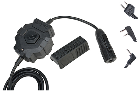 Element Z-Tactical Push-To-Talk PTT Radio Adaptor w/ Wireless Remote (Connector: Midland)