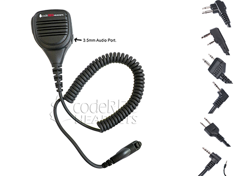 Code Red Headsets Signal 21 Shoulder Speaker Mic (Connector: Kenwood 2-Pin)