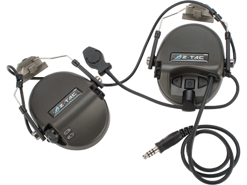 Z-Tactical Z034 Tactical Communications Headset w/ Noise Cancelling System for FAST helmets