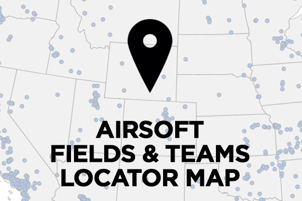 Airsoft field and team locator map